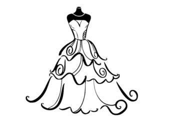 340x270 Wedding Dress Svg Etsy