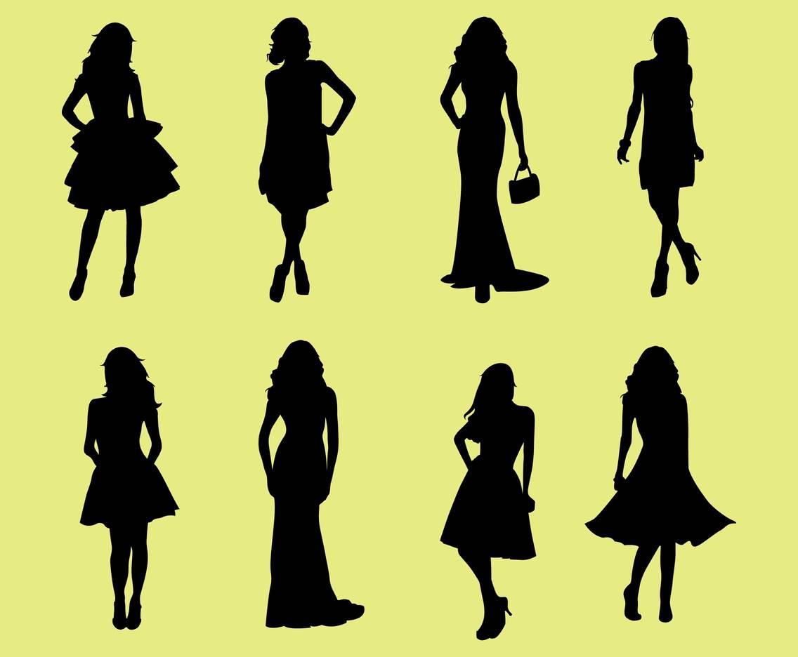 1136x936 Woman In Dresses Silhouette Vectors Vector Art Amp Graphics