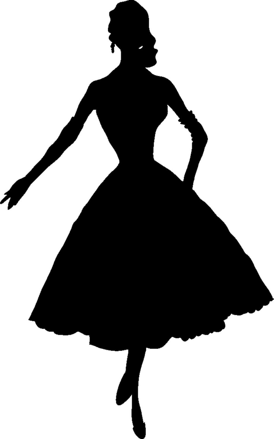 Dresses Silhouette at GetDrawings.com | Free for personal use ...