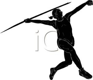 300x257 Woman Throwing Javelin Javelin Throw Silhouette Projects