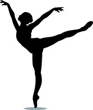 305x361 Fancy Dance Silhouette Clip