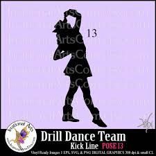 225x225 Drill Dance Team Silhouettes Pose 4 Boot 1 Eps By Irrationalarts