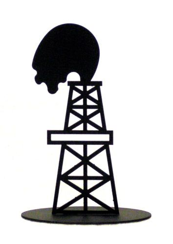 Drilling Rig Silhouette