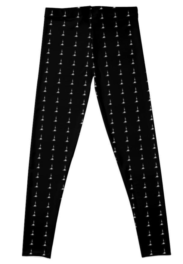 608x875 Oil Drilling Rig Silhouette On Black Leggings By Oilfieldgifts