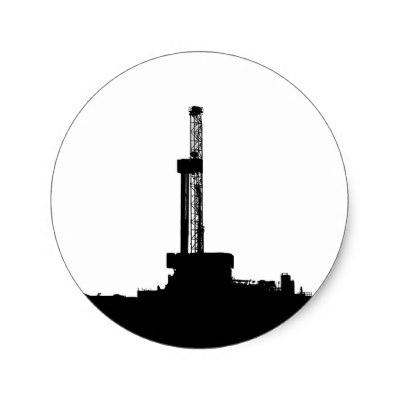 400x400 Oil Rig Roughneck ,oilfield Sticker,drilling Rigs Classic Round