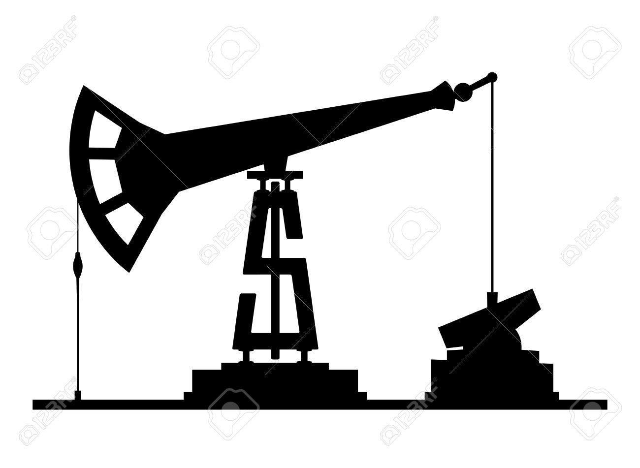 1300x951 Oil Rig Clipart Pump Jack
