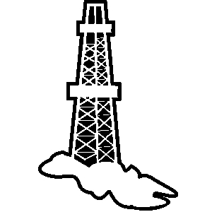 Drilling Rig Silhouette at GetDrawings com   Free for