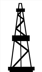 137x235 Drilling Rig Silhouette Stock Photos