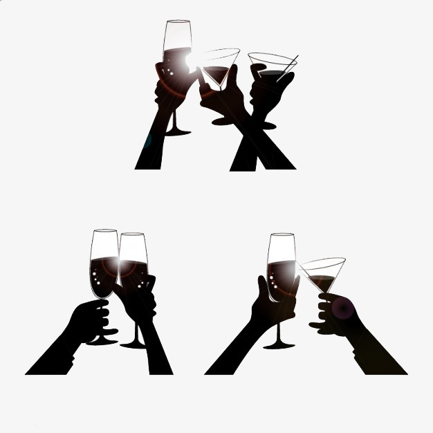 626x626 Black Silhouette Drink, Clink, Limb, Sketch Png Image And Clipart
