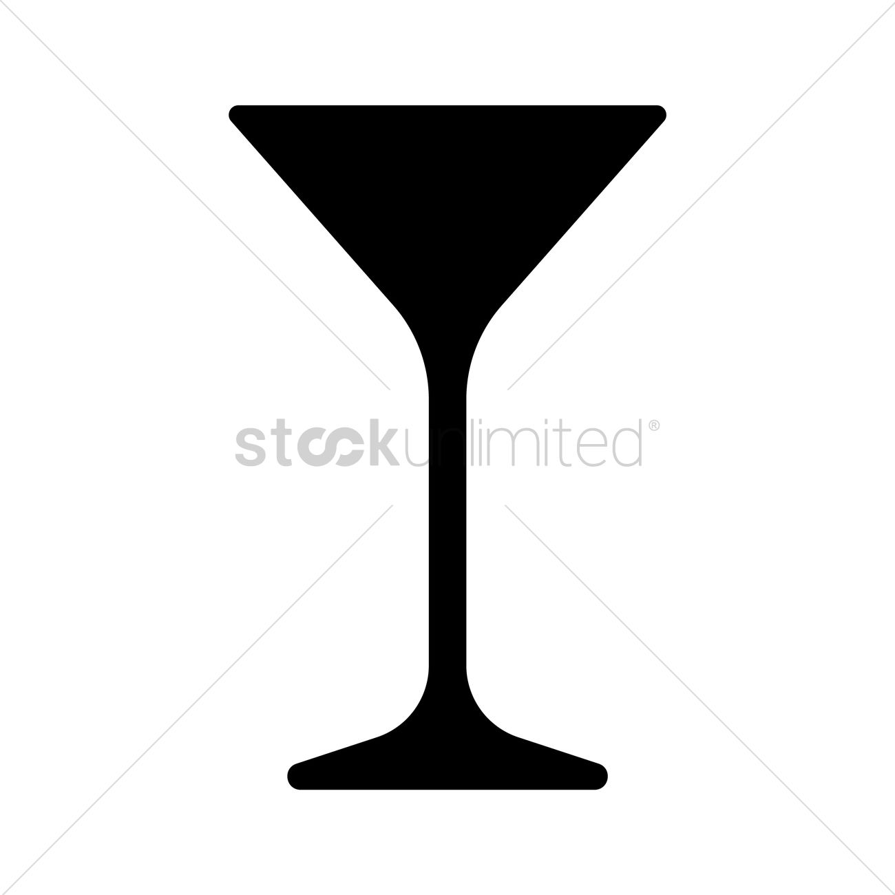 1300x1300 Cocktail Glass Silhouette Vector Image