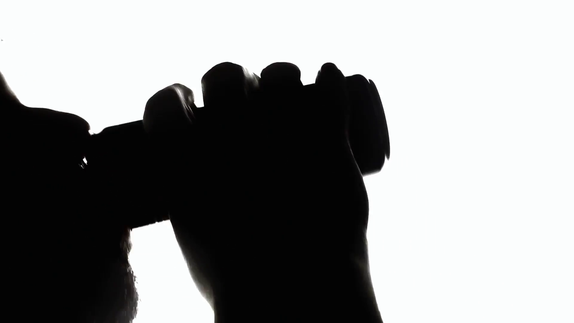 1920x1080 Silhouette Man Drinking Short. A Man Eagerly Drinking From