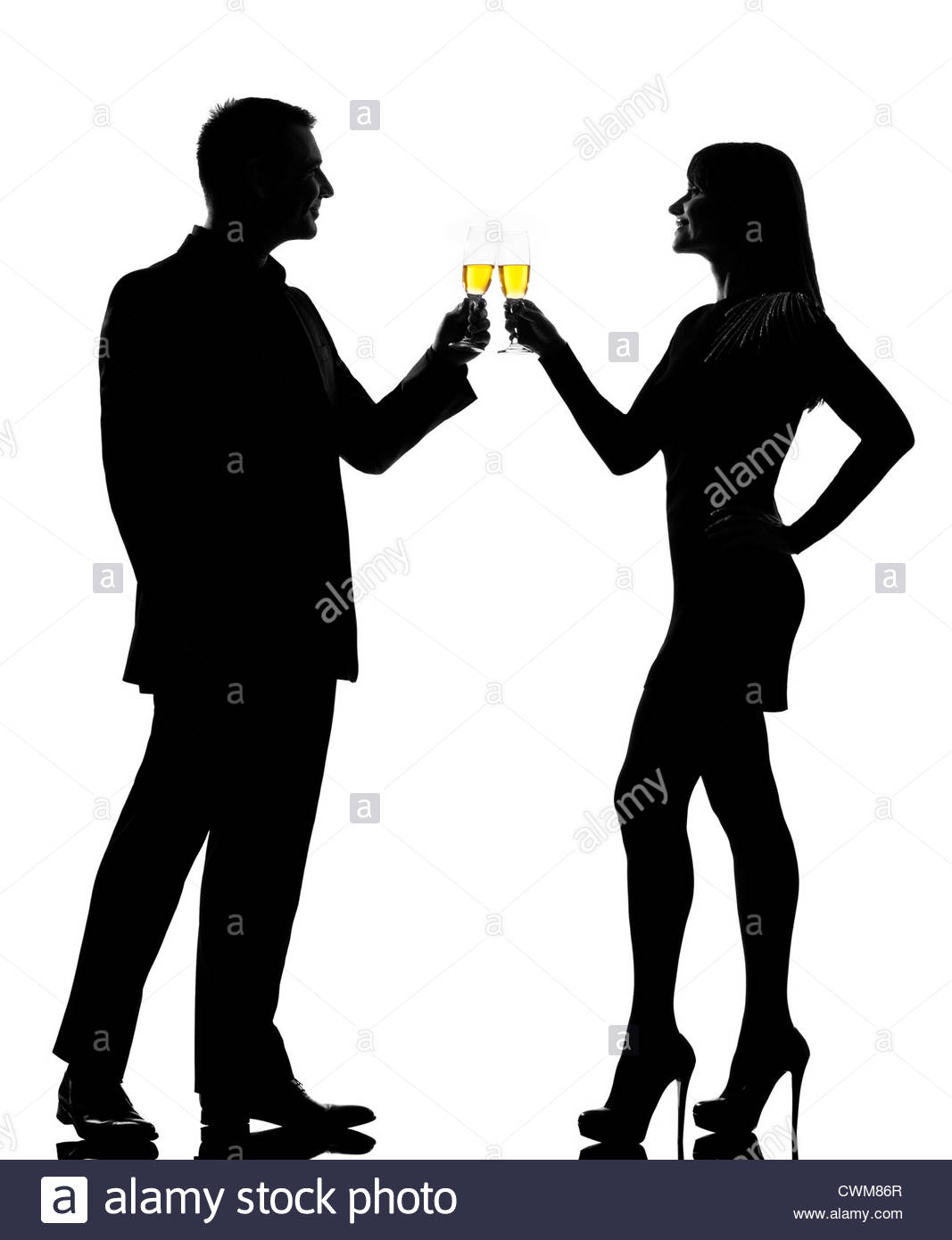 1067x1390 One Caucasian Couple Man And Woman Drinking Champagne Toasting