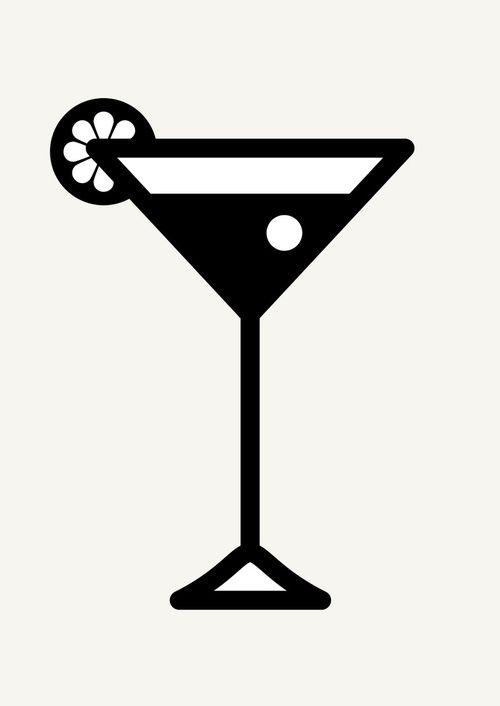 500x706 Icon Prints Drinks Serie By Brigada Creativa, Via Behance Svg