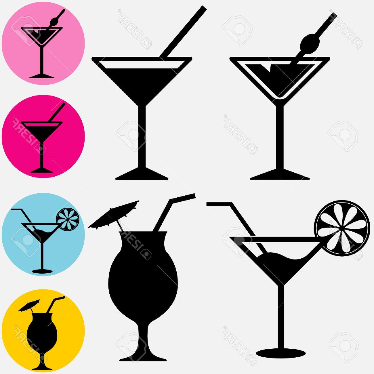 1300x1300 Best Hd Cocktail Icons Glass For Drinks Silhouette With Drinking