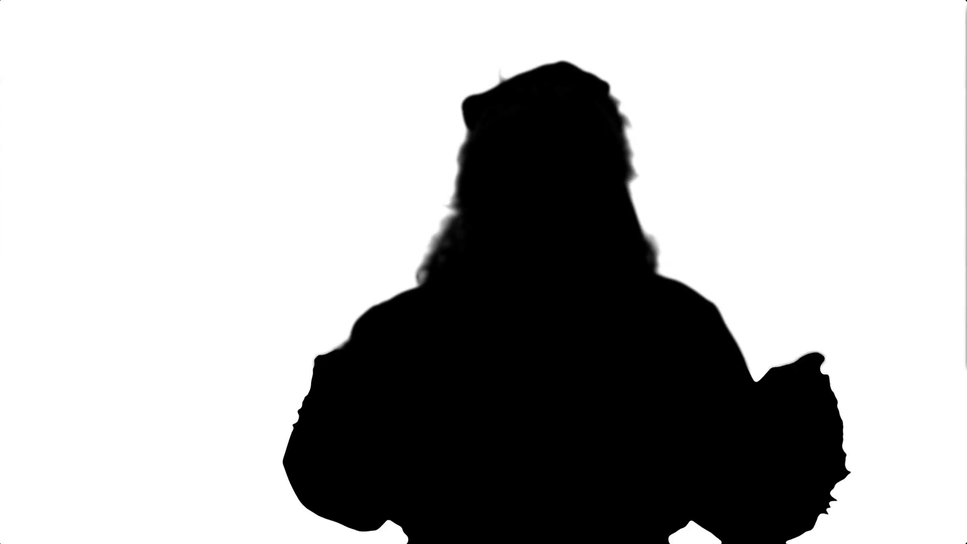 1920x1080 Silhouette Santa Drinks From A Red Cup Stock Video Footage