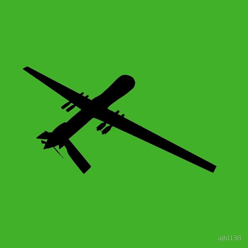 800x800 Predator Reaper Uav Drone Silhouette Spiral Notebooks By