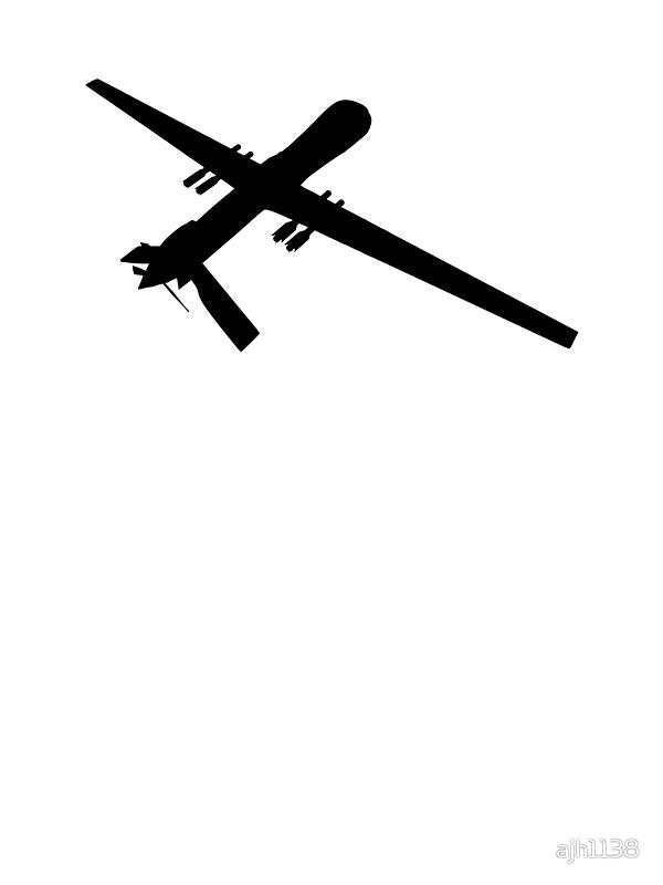600x800 Predator Reaper Uav Drone Silhouette Stickers By Ajh1138