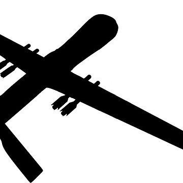 360x360 Predator Reaper Uav Drone Silhouette Tri Blend T Shirt By