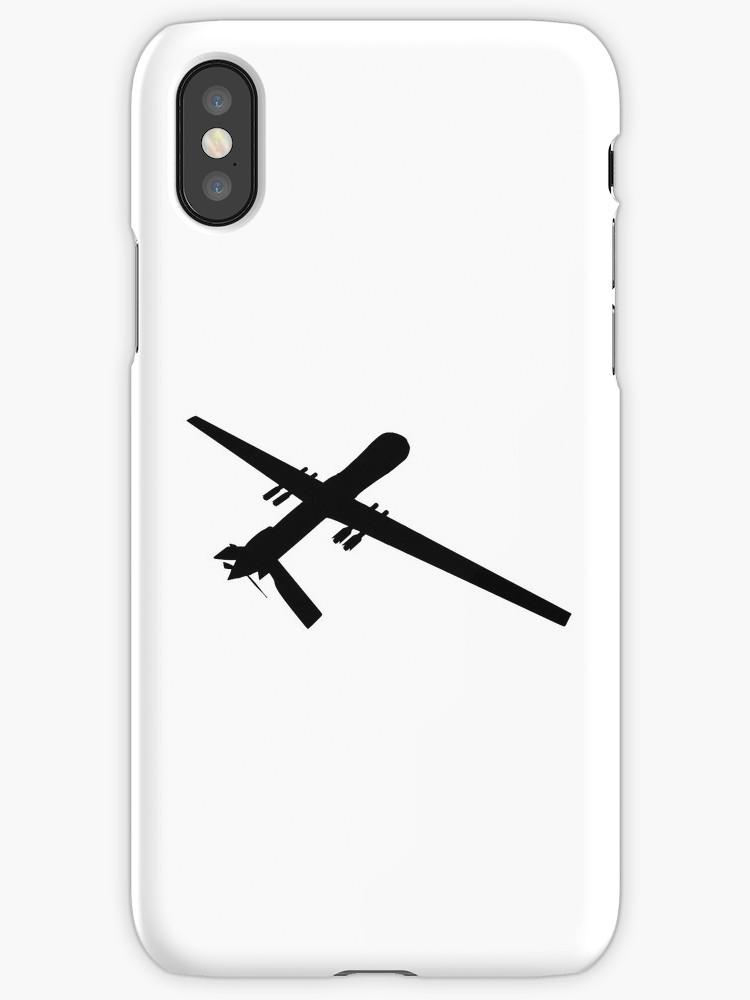 750x1000 Predator Reaper Uav Drone Silhouette Iphone Cases Amp Covers
