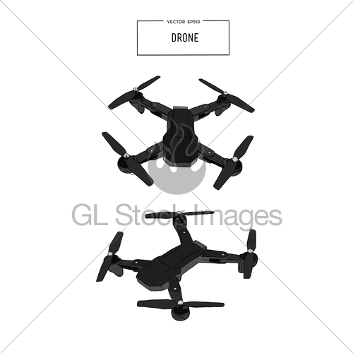 500x500 Quadcopter And Drone Vector Illustration Vector. Gl Stock Images