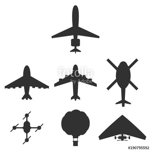 Drone Silhouette Vector