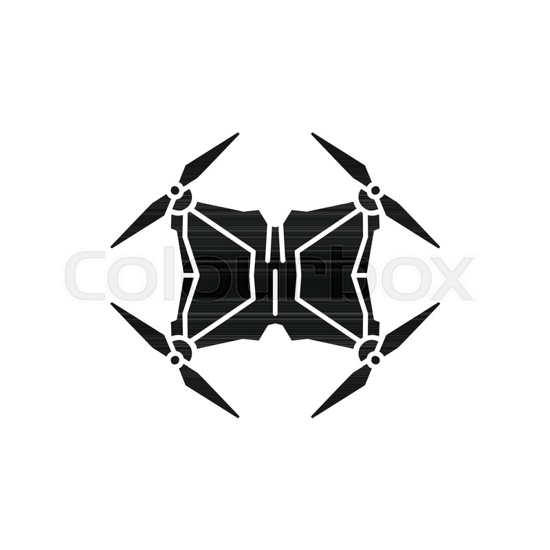 800x800 Drone Icon. Silhouette Illustration Of Drone Vector Icon For Web