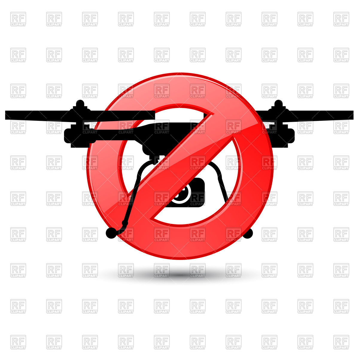 1200x1200 Quadcopter Prohibited Sign Royalty Free Vector Clip Art Image