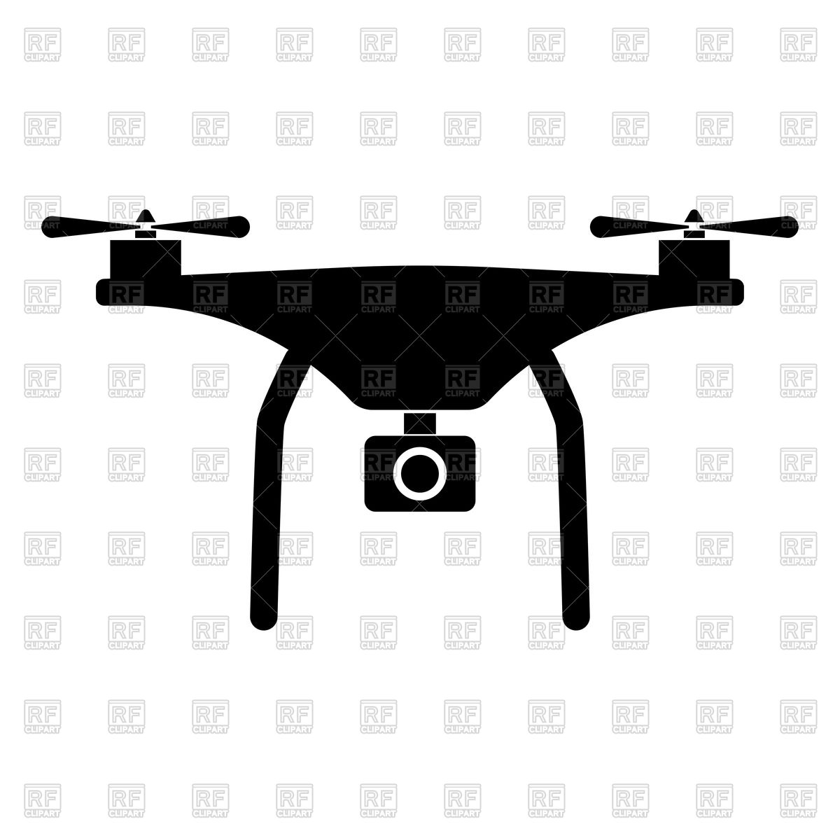 1200x1200 Silhouette Of Drone Royalty Free Vector Clip Art Image