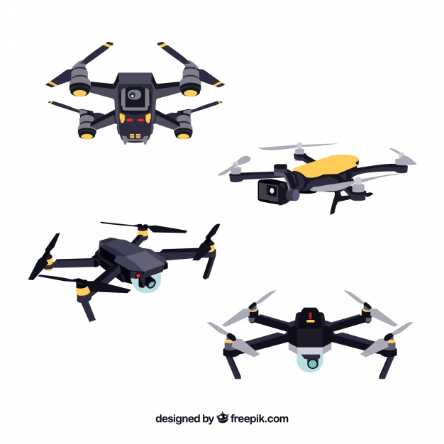 626x626 Technological Pack Of Modern Drones Vector Free Download