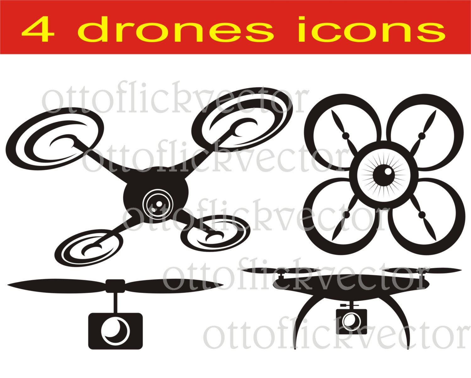 1500x1205 Drone Vector Clipart Eps, Ai, Cdr, Png, Jpg, Drones Cuttable
