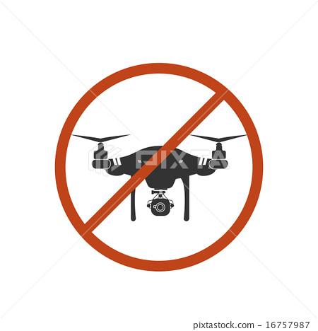 450x468 Drone Warning Icon Silhouette Prohibit Air Vector Design