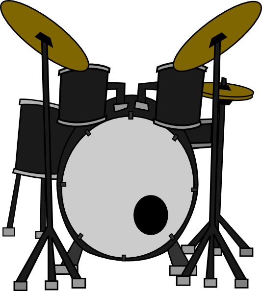 534x594 Drum Set Png Black And White Transparent Drum Set Black And White