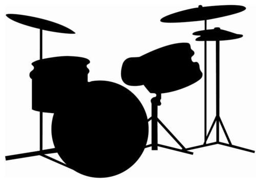 drum kit silhouette at getdrawings com free for personal use drum rh getdrawings com drum set clipart black and white