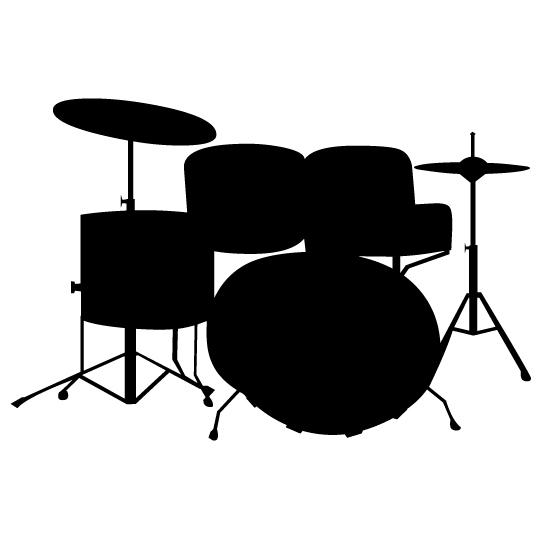 541x541 Drum Set Clipart Silhouette