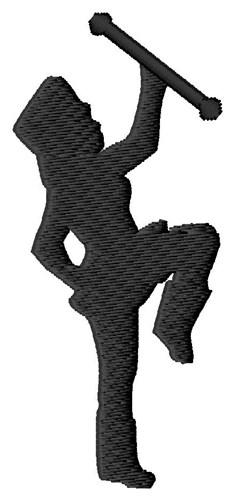 234x500 Majorette Silhouette Embroidery Designs, Machine Embroidery