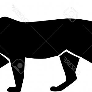 300x300 Silhouette Of A Walking White Panther In A Tattoo Style Vector Gm