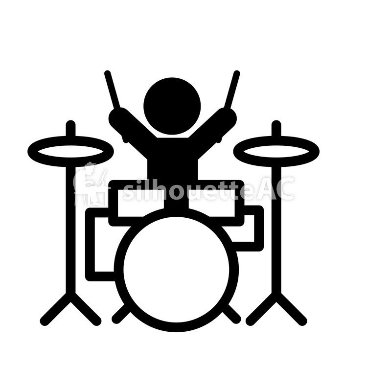 750x750 Free Silhouette Vector Icon, Concert, Cymbal