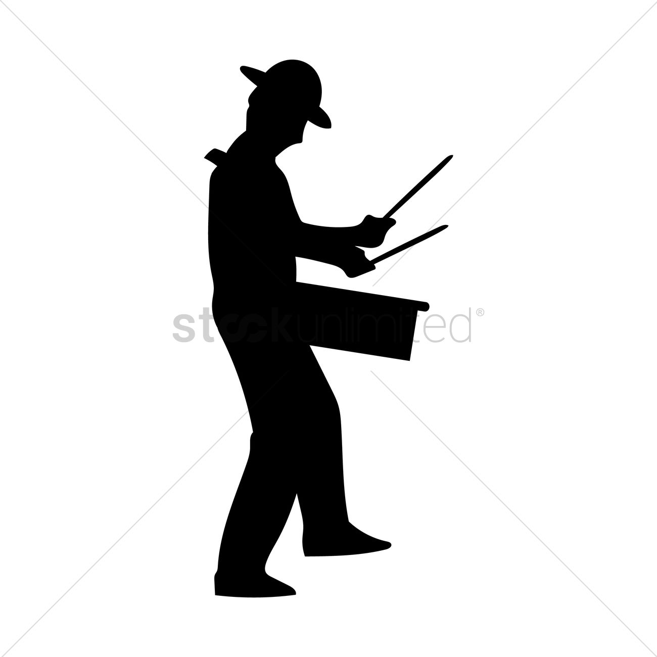 1300x1300 Man Playing Drum Vector Image