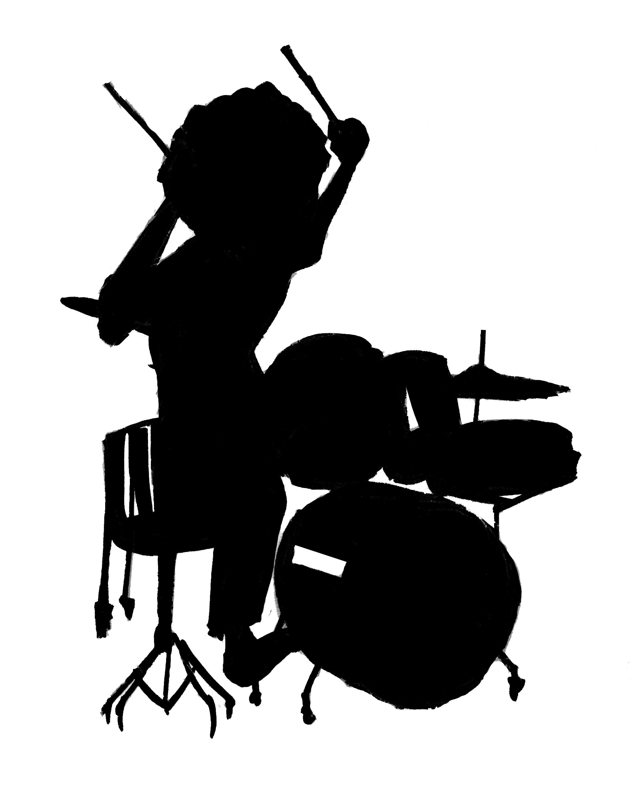 2039x2541 Set Drummer Silhouette Clipart Panda