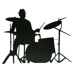 236x236 Die Cut Silhouette Drummer Drum Kit X 6 For Card Making Amp Craft