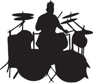 300x267 Drum Silhouette Clip Art