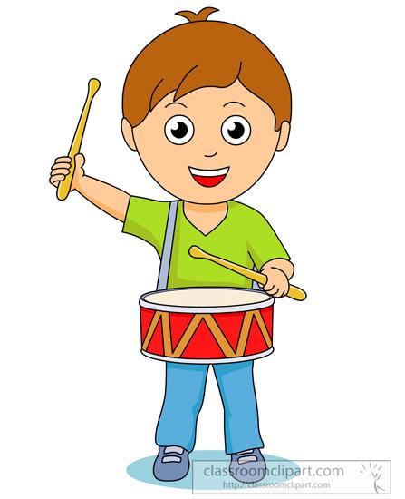 Drummer Boy Silhouette