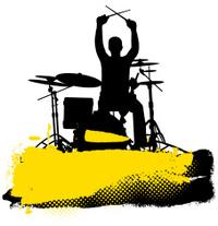 200x207 Drummer Silhouette (Vector Illustration) Stock Vector