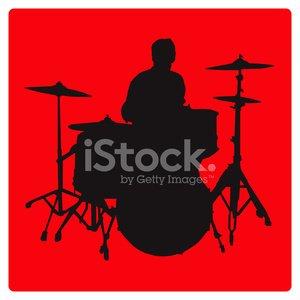 300x300 Drummer Silhouette (Vector Illustration) Premium Clipart