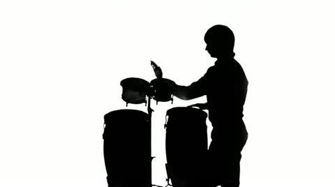 480x268 Drummer Silhouette ~ Hi Res Video