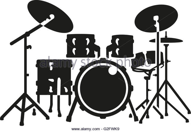 640x441 Free Drummer Silhouette Clipart