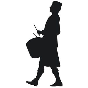 300x300 Large Traditional Scottish Drummer Pipe Band Silhouette Scotland