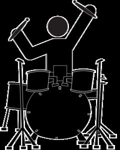 240x298 Drummer Clipart