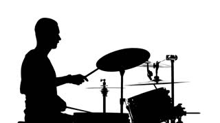 320x180 Drummer Plays Near Gate Of Metal Constructions Stock Video Footage
