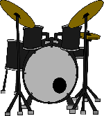 150x166 Music, Set, Outline, Drum, Drawing, Silhouette
